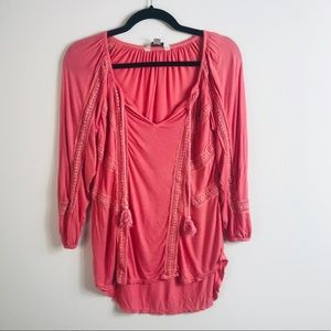 Lucky Brand Coral Blouse